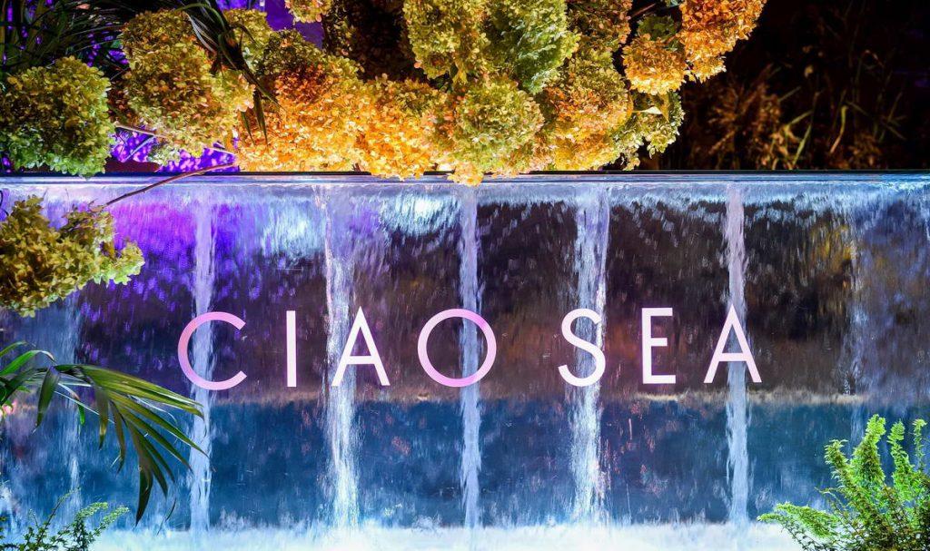 Ciao Sea Logo Waterfall
