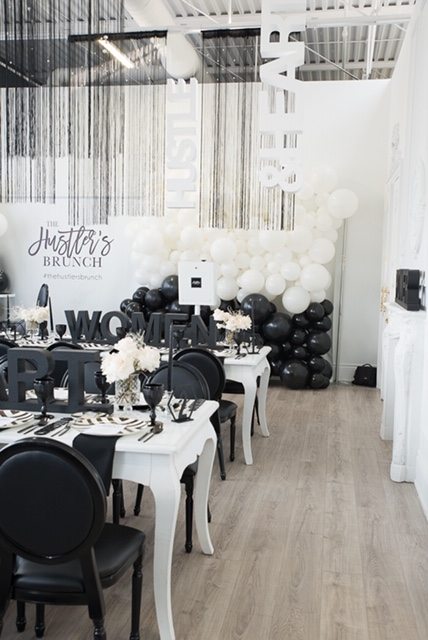 Custom Event Decor & Design Black and White