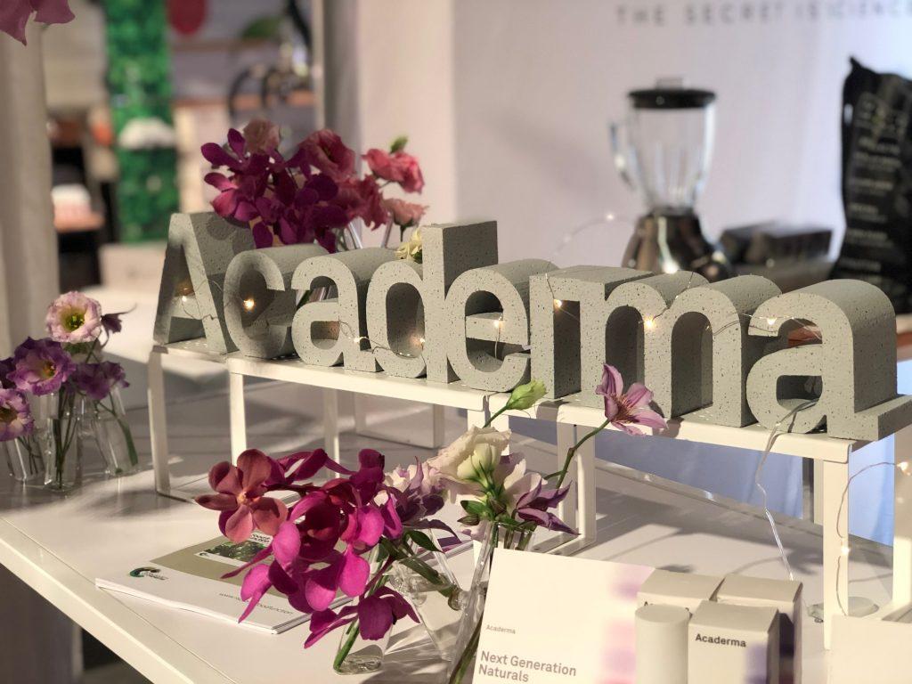brand name concrete letters decor academia